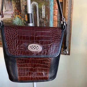 Brighton leather bag black brown